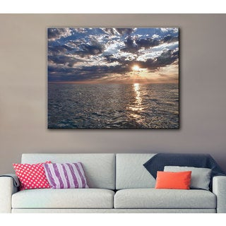 Art Wall Dan Wilson 'Lake Erie Sunset I ' Gallery-Wrapped Canvas