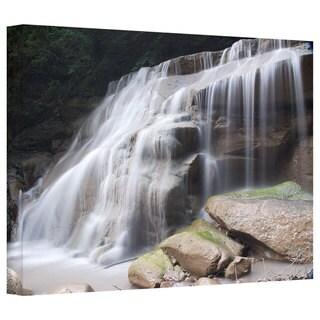 Art Wall Dan Wilson 'New York- Rattlesnake Gulf Waterfall ' Gallery-Wrapped Canvas