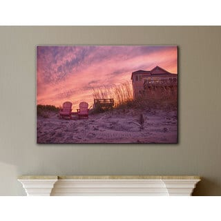 Art Wall Dan Wilson 'Outer Banks- Pink' Gallery-Wrapped Canvas