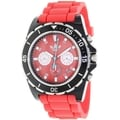 Adidas Men's Stockholm ADH2836 Red Silicone Quartz Watch with Red Dial