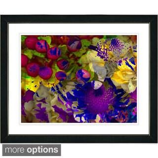 Zhee Singer 'Purple Flowers and Berries' Framed Art Print
