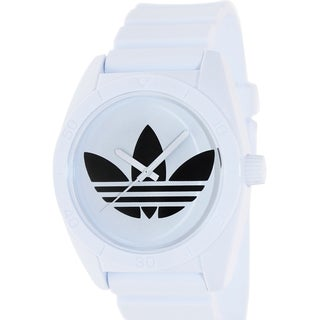 Adidas Men's Santiago ADH2821 White Polyurethane Quartz Watch with White Dial