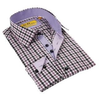 Brio Purple Stitched Collar Men's Shirt