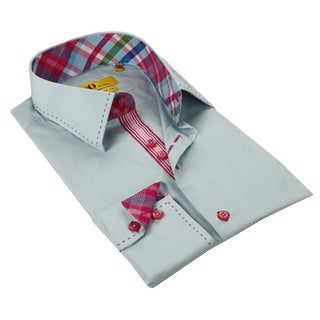 Brio Light Blue Stitched Collar Men's Shirt
