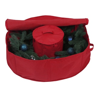 Holiday 30-inch Wreath Bag with Center Storage
