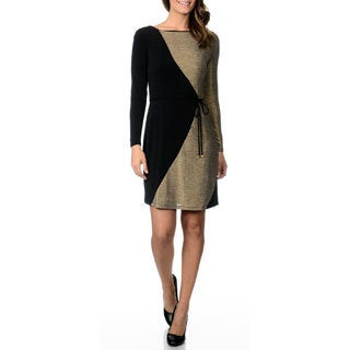 Studio I Women's Metallic Color Block Dress