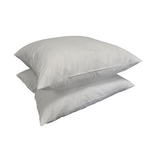European Square Feather Pillow Insert (Set of 2)
