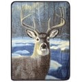 Plush Velour Winter Deer Oversize Animal Throw Blanket