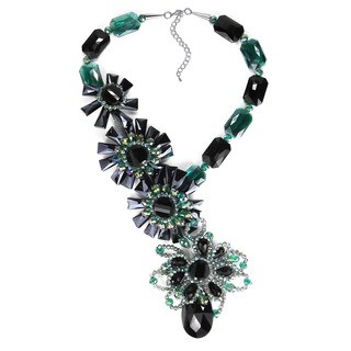 Floral Treasure Ivy Green Crystal Statement Necklace (Thailand)