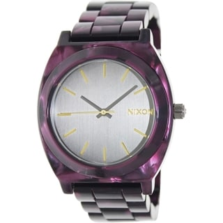 Nixon Women's Time Teller A3271345 Purple Quartz Watch with Grey Dial