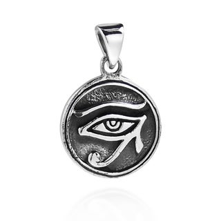 Circle Eye of Horus Egyptian Symbol .925 Silver Pendant (Thailand)