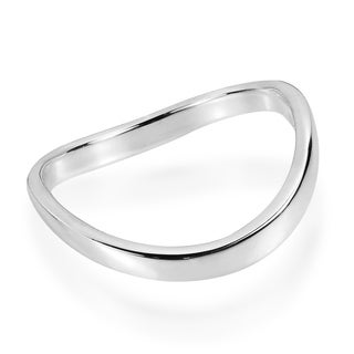 Trendy Wave Band .925 Silver Contemporary Ring (Thailand)