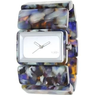 Nixon Women's Vega A7261116 Multicolor Ceramic Quartz Watch with Silver Dial
