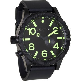 Nixon Men's 51-30 Pu A0581256 Black Rubber Swiss Quartz Watch with Black Dial