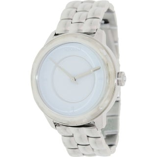 Nixon Women's A3451029 Silver Stainless-Steel Quartz Watch with White Dial