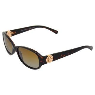 Tory Burch Women's TY 9013 510/T5 Dark Tortoise Porarized Sunglasses
