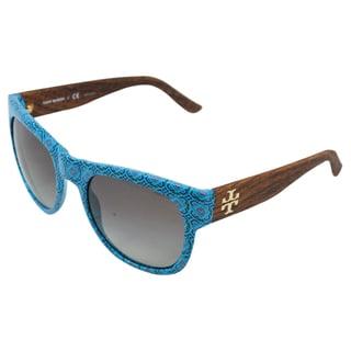 Tory Burch Women's TY 9026 120911 Blue Geometric Sunglasses