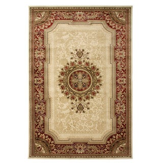 Traditional Aubusson Savonniorie Ivory Area Rug (5'3 x 7'7)