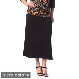 24/7 Comfort Apparel Women's Plus Size Maxi Skirt