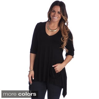 24/7 Comfort Apparel Women's Plus Size Tunic Top