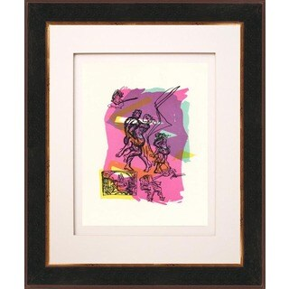 Francois Lamore 'Untitled N8-1' Original Lithograph Framed