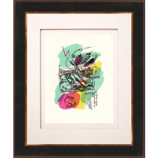 Francois Lamore 'Untitled N8-3' Original Lithograph Framed