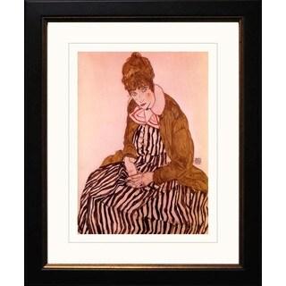 Egon Schiele 'Edith Schiele Seated' Giclee Framed
