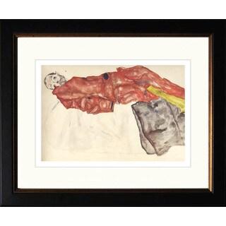 Egon Schiele 'Self Portrait as Prisoner' Giclee Framed