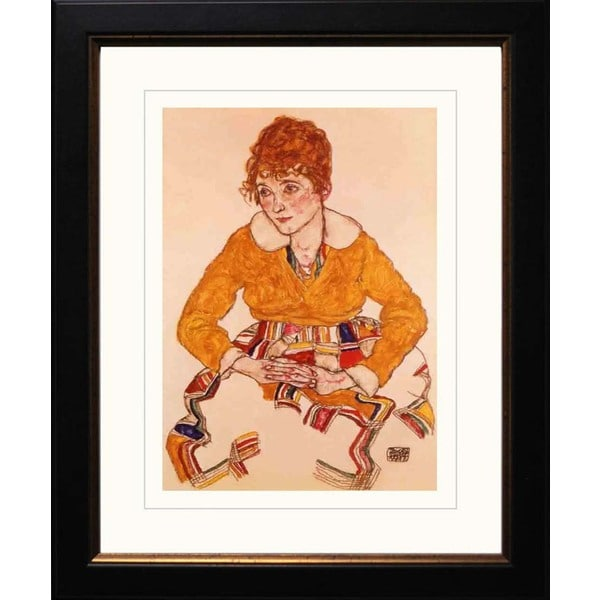 Egon Schiele 'Portrait of the Artist's Wife' Giclee Framed