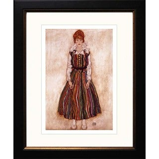 Egon Schiele 'Portrait of the Artist's Wife Standing' Giclee Framed