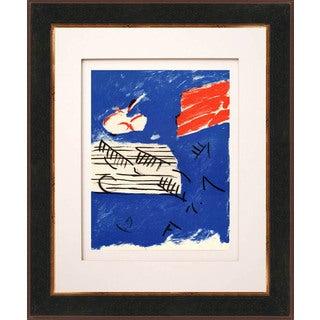 Pierre Nivollet 'Biographies - N10-4' Original Lithograph Framed
