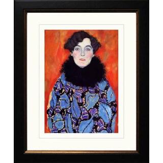 Gustav Klimt 'Portrait of Joanna Staud' Framed Giclee