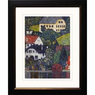 Gustav Klimt 'Houses on Unterach' Framed Giclee