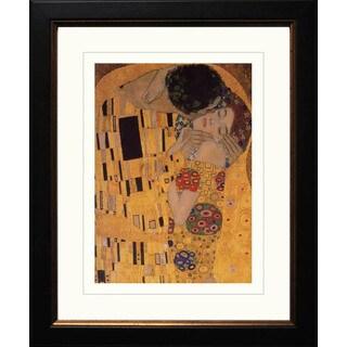 Gustav Klimt 'The Kiss' Framed Giclee