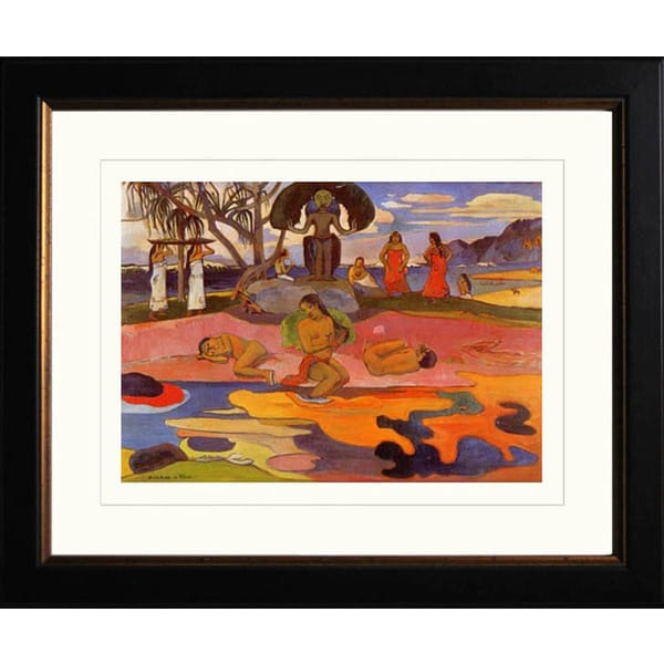 Paul Gauguin 'Day of God' Giclee Framed Art