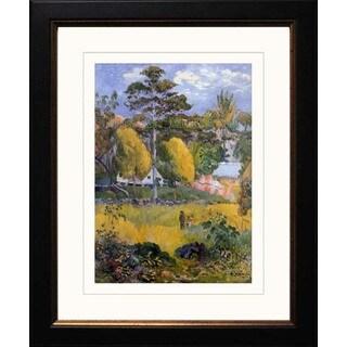 Paul Gauguin 'The Family Walk' Giclee Framed Art