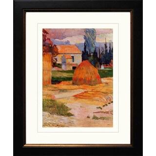 Paul Gauguin 'Landscape Near Arles' Giclee Framed Art