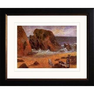 Paul Gauguin 'Seascape in Brittany' Giclee Framed Art