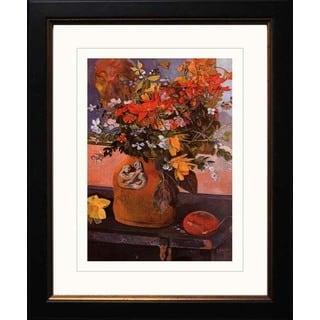 Paul Gauguin 'Still Life with Flowers' Giclee Framed