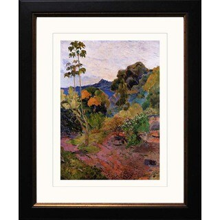 Paul Gauguin 'Martinique Landscape' Giclee Framed Art