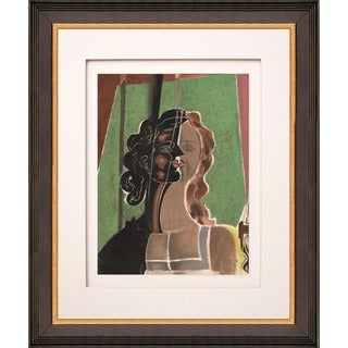 Georges Braque 'Figure' Lithograph Framed Art