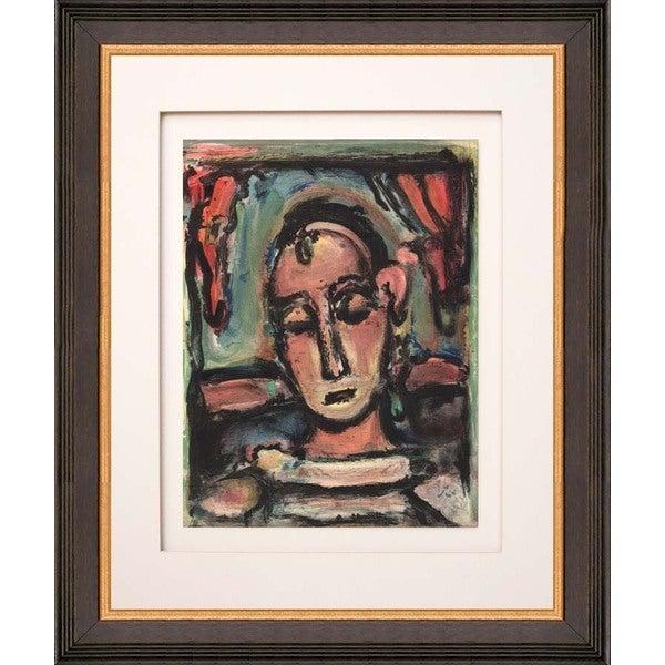 Georges Rouault 'Tete de femme' Lithograph Framed Art