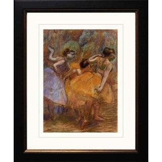 Edgar Degas 'Dancers 1900' Giclee Framed Art