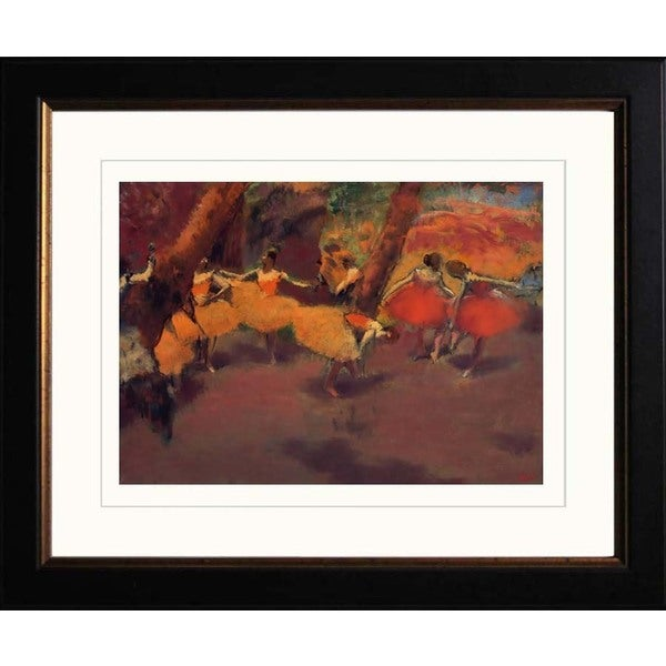 Edgar Degas 'Before the Performance' Giclee Framed Art