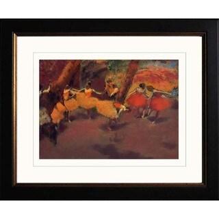 Edgar Degas 'Before the Performance' Giclee Framed Art