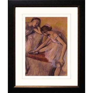 Edgar Degas 'Dancers in Repose' Giclee Framed Art