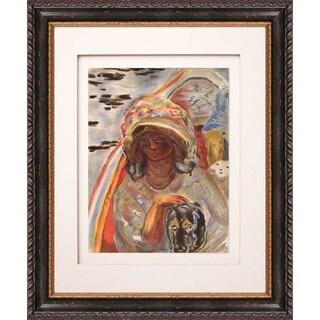 Pierre Bonnard 'Jeune Fille Devant la Barque' Framed Lithograph