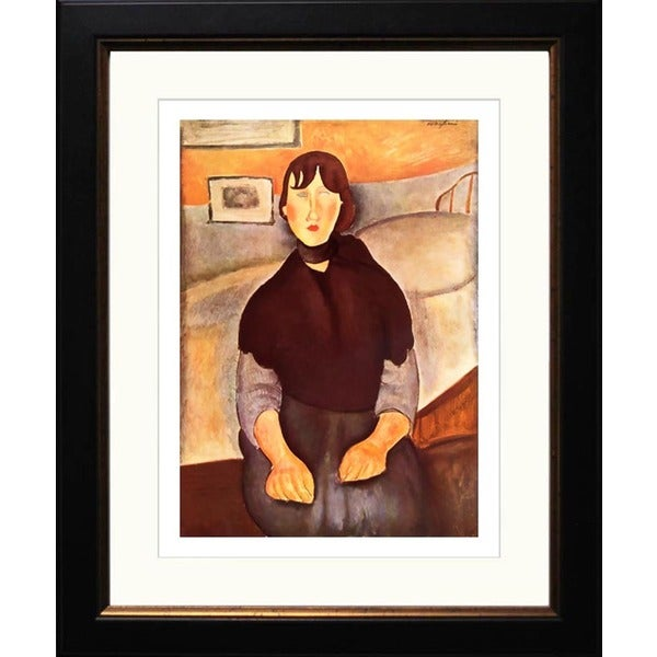 Amedeo Modigliani 'La Fille du Peuple' Giclee Framed Art