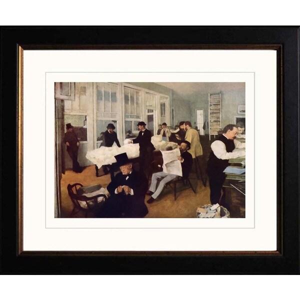 Edgar Degas 'The Cotton Market' Framed Giclee