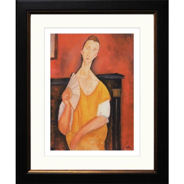 Amedeo Modigliani 'Portrait of Lunia Czechowska' Giclee Framed Art